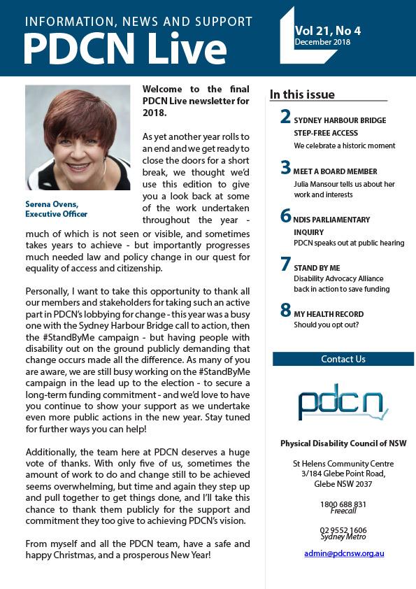 PDCN Live - December 2018 cover image