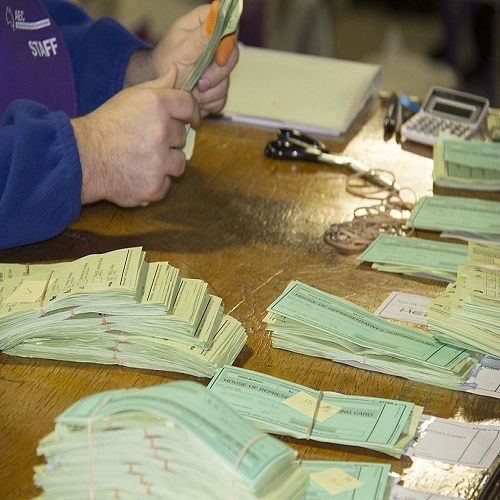 AEC staff counting votes at the 2016 federal election