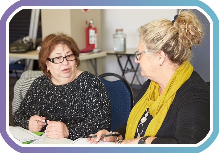 two participants in NDIS self management support one-on-one