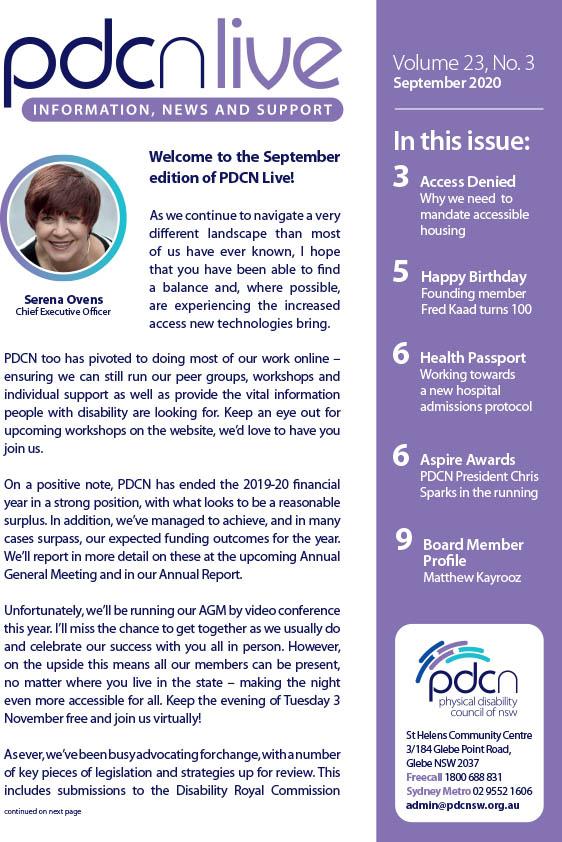 Link to PDCN Live - September 2020 PDF