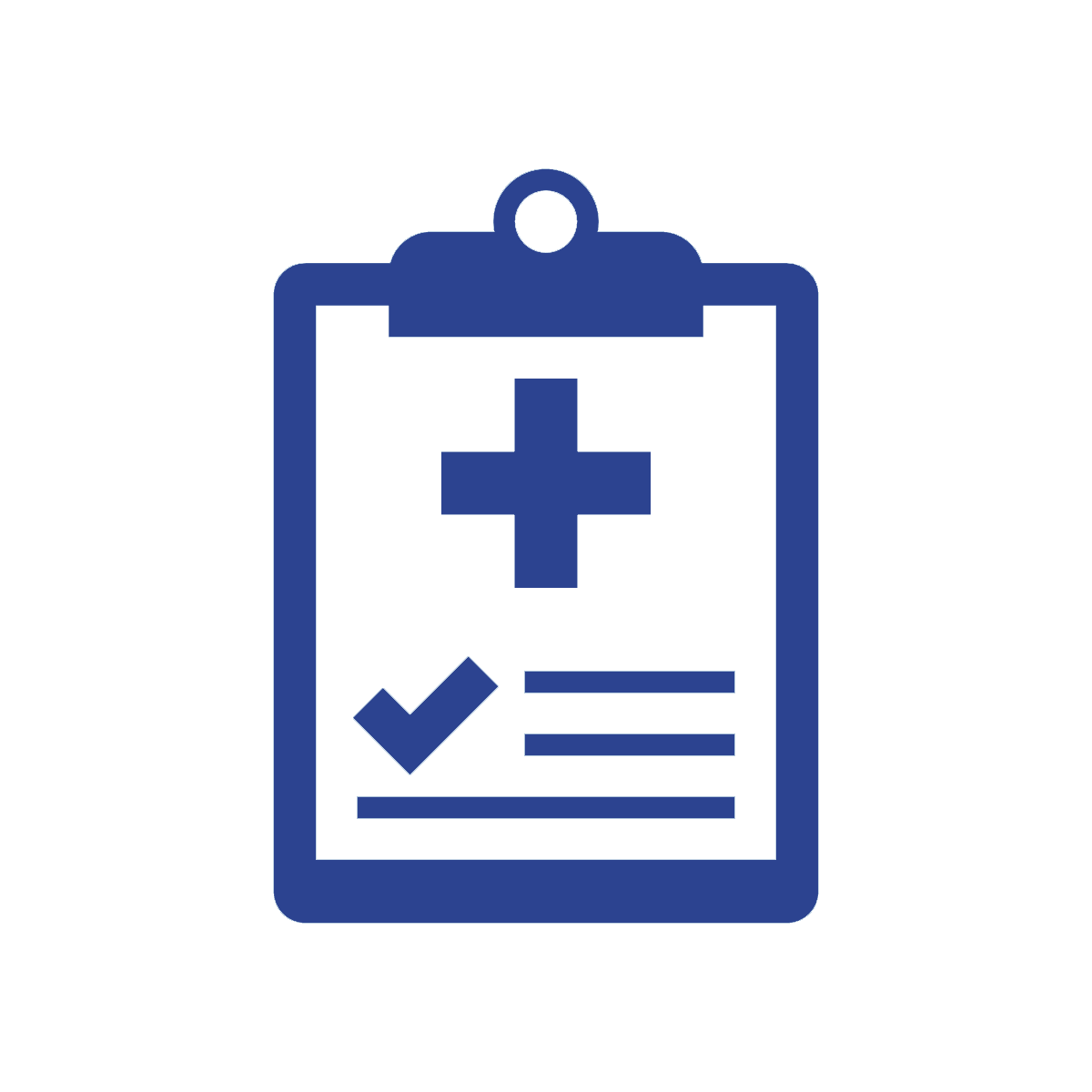 a simplified figure drawing of a medical assessment checklist clipboard